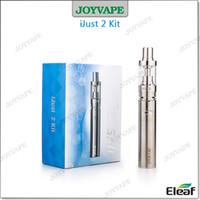 Wholesale 100 Original iSomka Eleaf iJust Starter Kit mah iJust2 Battery ml ohm Subohm W W iJust Atomizer Airflow Control Kits