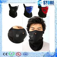Wholesale Neoprene Snowboard Ski Cycling Face Mask Thermal Neck Warmer Fleece Balaclavas Headgear Winter Skiing Ear Windproof Warm Face Mask wu
