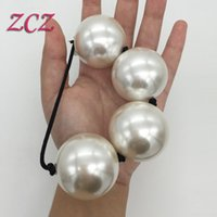 Wholesale 100 Real Photo CM Big Anal Beads Balls Acrylic Butt Plugs Prostate Stimulate Sex Toys For Men Women Adult Games Product SX634