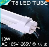 Wholesale 2ft mm T8 Led Tube Light High Super Bright W Warm Cold White Led Fluorescent Bulbs AC85 V FCC