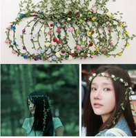 attraction tourism - Garland Bohemia Headwear tourism plastic rattan bridal tiara crowns Tourist Attractions Supplies