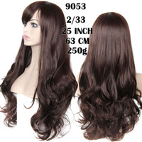Wholesale New fashions synthetic False Hair Wig Curly Full Wigs with Side Bangs Cheap Heat Resistant Wig for African American Black Women