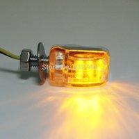 Wholesale 2Pcs V LED Mini Universal Car Auto Motorcycle Turn Signal Blinker Indicator Light order lt no track