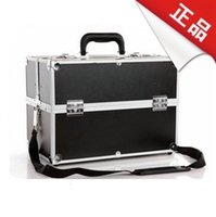 Cheap New arrival professional shoulder strap cosmetic box portable Large tool box cosmetics storage box password lock