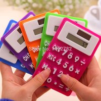 Wholesale New Silicone Calculator Solar Energy Soft Keyboard Creative Can be Attached To The Magnetic Refrigerator Math Tool For Schools
