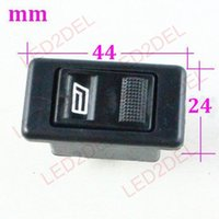 Wholesale Universal car accessories electric window lifter switch doors and windows single pins switch button for Vw santana