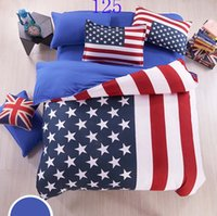 Wholesale Cartoon American flag Adults Children bedding set bed linen bed sheet quilt twin full queen size bed set home textile