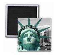 america fridge - 3pcs America Blue Is The Statue Of Liberty Photo print Fridge Magnet decor refrigerators magnets home decoration