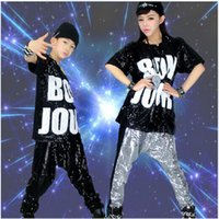 adult child - sexy The new Child Adult sequins loose casual clothes and hip hop hip hop performers sixty one Costumes