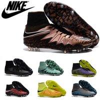 Hombres Nike Hypervenom Phantom II 2 FG Botas de fútbol grapas del láser zapatos de fútbol originales zapatos baratos oficiales ic zapatos del fútbol de interior de Fútbol