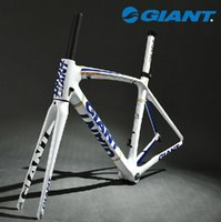 Wholesale 2014 GIANT TCR Composite T Carbon Original C Road Bike Bicycle Parts Fork Frame Set Size M mm White