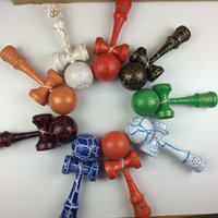Wholesale new colors hot Japanese Traditional Game Toy cm jumbo full crack kendama Beech Kendama Ball Japanese Traditional Wood Game Toy