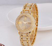 Cheap High Quality Japan Movement Quartz Watches Roman Numerals Luxury Watches Bling Diamond Watches for Men Women Fashion Gold Wristwatches