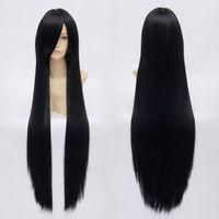 Costume Accessories ai wig - Hot Sale Halloween Party Fancy Anime Enma Ai Akiyama Mio Kikyou Cosplay Black Wigs