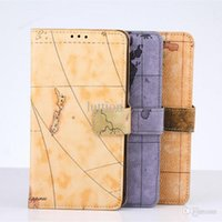 Wholesale Samsung note4 retro map open holster note4 stand around phone protection cover