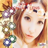 big star - hot selling big eye look color soft contact lenses yearly used STAR II large dameter lenses