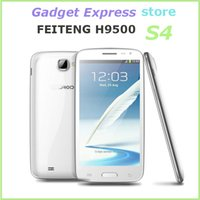 Cheap Free hk shipping low price Chinese mobile phone 5.0 Inch Screen Feiteng H9500 MTK6589 S4 Quad core Android 8.0MP 1gb ram mobile