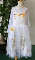 Wholesale 2015 Cinderella Girls Party Dresses Wedding Dress Kids Dresses Pageant Dresses for Girls Cinderella Lace Printed bridesmaid Princess Dresses