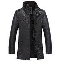 big liners - Fall New arrival long leather jacket men fashion wool liner winter pilot jacket big leather suede plus size biker jacket PY018