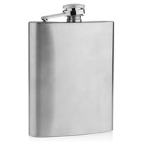 Wholesale 8 Oz Stainless Steel Hip Flask Whiskey Flask