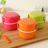 plastic food storage container - Candy Color Bento Lunch Box Kids Food Safe PP Food Container Microwave Dishwasher Workable Snack Box Sweet Plastic Storage Box dandys