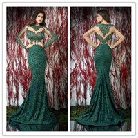 Cheap 2015 long sleeves prom dresses Best appliques evening gown
