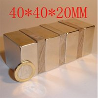 2PC 40x40x20mm 40 X 40 X 20 aimant puissant engin aimant néodyme n50 fort aimant permanent n52 TIENT 60KG