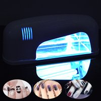 Wholesale 9W UV Nail Art Dryer Lamp Pro Gel Finish Quick Dry Phototherapy Curing Light Spa Kit V US V EU Plug