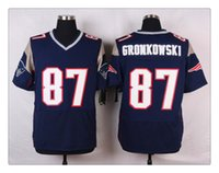 Cheap Elite American Football patriot #87 GRONKOWSKI 80 11 12 BLUE Top quality Football Jersey Mix Order More Player Free Fast Shipping
