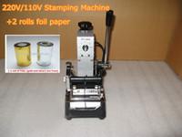 Wholesale High Quality V V Manual Gold Hot Foil Stamping Maer Machine Cchine Tipper Machine Card Tipper for Leather PVC Card FREE FOIL PAPER