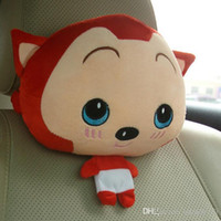 Wholesale LJJG171 Cute Cartoon Fox Car Neck Pillow Car Headrest Plush Pillow Car Seat Travel Pillow