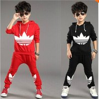 Wholesale 2016 fashion autumn winter Children Tracksuit casual kids clothes sets boys and girls hoodie and coat trousers