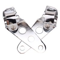 adjustable beam clamps - 2x Headlight Bracket Adjustable Fork Mount Clamp For Motorcycle Bike Ears Cafe Racer Triumph Norton mm Silvery Chrome order lt no track