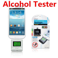 Handheld   IPEGA Alcohol Tester Analyzer Alcoholometer Breathalyzer Backlight Detector With LCD Digital Screen For Micro USB Android Smartphone DHL