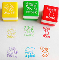 Wholesale New Teachers Stampers Self Inking Praise Reward Stamps Motivation Sticker School