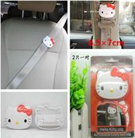 Wholesale Hot Sale Car Seat Belt Kitty Cat Belt Cute Hello Kitty Clip Automobile Satety Belt Clip X7CM