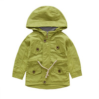 Tench coats Boy Turn-down Collar Korea Boy Child Trench Coat Online Shopping For Wholesale Clothing Kid Jacket With Cap For Boys Wind Coat Children Clothing