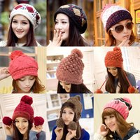 Wholesale Womens Fashion Hats and Caps Knitted Hats Winter Cool Crochet Hats Beanie Hats for Women Ladies Hop Caps Dhl B462