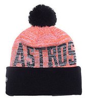 astros baseball hat - 2016 New Beanies Team Baseball Pom Knit Hats Sports Cap Astros Beanies Hat Mix Match Order All Caps in stock Top Quality Hat