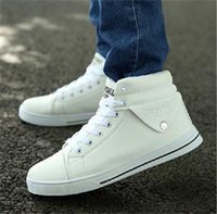 Wholesale 2014 New Fashion Breathable Men High top Ankle Shoes Brand Men Winter Warm Casual Lace up Sneakers