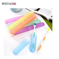 bacteria types - W S TANG New Cylinder type toothbrush sleeve travel portable wash gargle toothbrush box breathable bacteria protected box