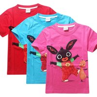 Wholesale Bing Bunny T shirts Boys Girls Summer Tops for Kids Children Short Sleeve Tees Summer Bing Bunny Clothing Colors
