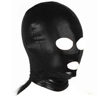 Wholesale Cheap Audlt Games Spandex Dew Nasal Mouth Slave Head Hood Man And Wife Sex Product Toys BDSM sex game Hoods Bondage Hoods