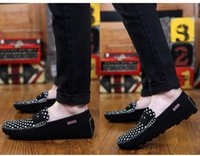 Cheap 2015 spring peas new shoes leather polish British leisure loafer suede leather shoes