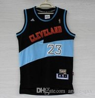 lebron james jersey - Retro Throwback LeBron James Basketball Jerseys Cleveland Fans New TOP Material Stitched Logo King James Uniform Blue Black