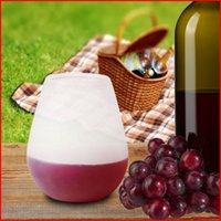 bbq pieces - Silicone Wine Glasses Unbreakable Rubber Wine Glasses Pool BBQ Shatterproof Reusable Beer Cup Beach Camping Flexible Plastic Cup Piece