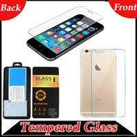 Metal protective film - 0 mm Front and Back Premium Tempered Glass H Explosion Proof Real Screen Protector Protective Film For iPhone S Plus SE S S S6