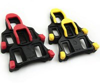 Wholesale 1pair Plastic Bicycle Parts Self locking Road Cleat Cycling Pedal Bike Pedal Lock Card Colors DP673246