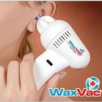 Wholesale DHL Free WaxVac Gentle and Effective Ear Cleaner Electric Ear cleaning Device Ear Vacuum Massage Ear Care Supply Easy to Use