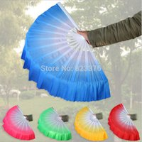 Wholesale DHL Freeshipping gradient color Chinese silk dance fan KungFu fan
